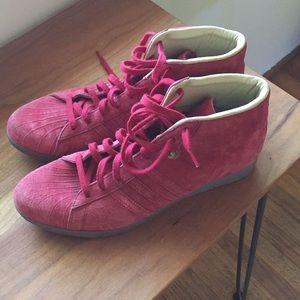 Suede Adidas sneakers